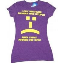 The Big Bang Theory -- Others Are Stupid Emoticon -- Juniors Tee Medium Photo