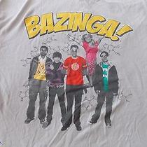 The Big Bang Theory Ripple Junction Cast Tv Show Bazinga Grey T-Shirt L Photo