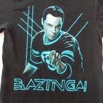 The Big Bang Theory Ripple Junction Sheldon Tv Show Bazinga Black T-Shirt S Photo