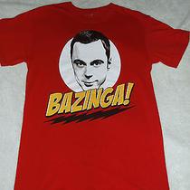The Big Bang Theory Sheldon Bazinga Red T Shirt Size S Great Tv Show Gift Photo