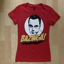 The Big Bang Theory Sheldon Bazinga T-Shirt Size M Photo