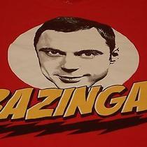 The Big Bang Theory Sheldon Cooper Bazinga Funny Tv Show T Shirt L Large Photo