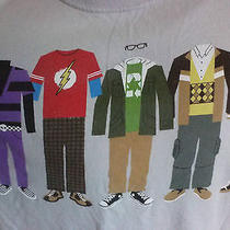 The Big Bang Theory T Shirt L Cast Line Up Wardrobe Characters Outfits Tv Show Photo