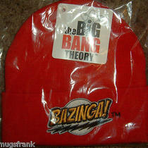 The Big Bang Theory Tv Show Bazinga Beanie Knit Hat Nwt Photo