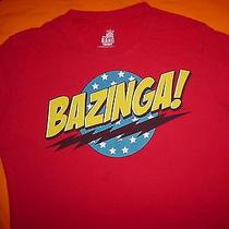 The Big Bang Theory Tv Show Bazinga Official Womans Skinny Xl T Shirt Photo