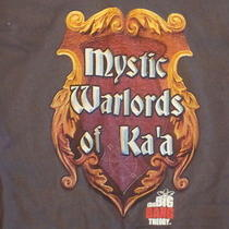 The Big Bang Theory Tv Show 'Mystic Warlords of Ka'a' Graphic Print T Shirt L Photo