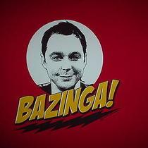 The Big Bang Theory Tv Show Sheldon Bazinga Official Flash 2xl T Shirt Photo