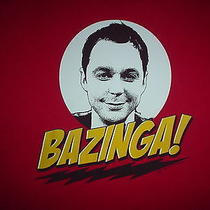 The Big Bang Theory Tv Show Sheldon Bazinga Official Flash Xl T Shirt Photo