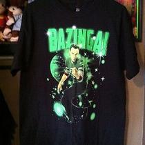 The Big Bang Theory Tv Show Sheldon Cooper Stars Bazinga Black T-Shirt Photo