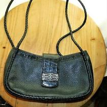 The Brighton Co. Over the Shoulder/cross Body Black Purse With Turquoise Accents Photo