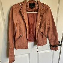 The Buckle Daytrip Pleather Jacket  Blush/ Coral  Size Small  Photo