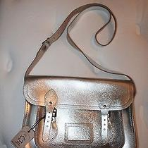 The Cambridge Satchel Company Metallic Silver Satchel Medium Size Photo