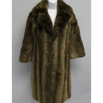 The Christie Brothers Brown Sheared Beaver Fur Long Sleeve Coat Size 10 Photo