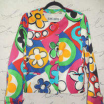 The Exquisite Escada Pop Art Print Art to Wear Jacket Sz 8/euro 38 Photo