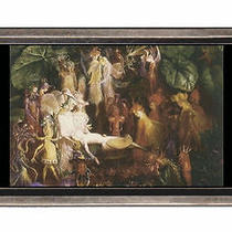 The Fairy's Funeral Fantasy Fine Art Belt Buckle Sturdy Metal Usa Made Photo