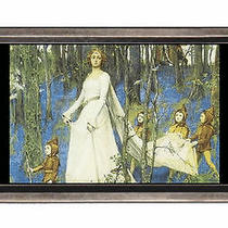 The Fairy Woods Fantasy Fine Art Belt Buckle Sturdy Metal Usa Made Photo