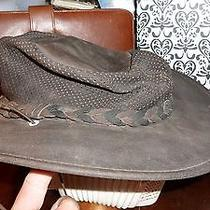 The Fold Up Hat by Minnetonka - Size Small - Great for Travel - Leather  Photo