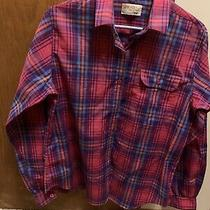 The Fox Collection Plaid Blouse. the Size Is Not Indicated and Best Guess Is 14. Photo