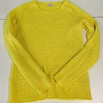 The Gap Neon Yellow Cable Knit Sweater Women's Small Photo
