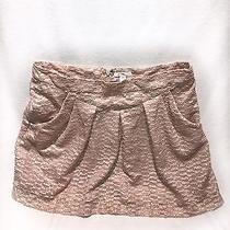 The Gap Women's Skirt Blush Gold Shimmer Circle Size 10 Photo