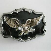 The Great American Buckle Co. Authentic American Eagle Belt Buckle 1983 Qd1243 Photo