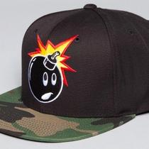 The Hundreds Adam Camo Snapback Cap Hat - Black Photo