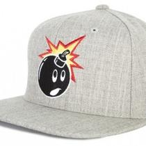 The Hundreds Adam Snapback Cap Hat - Heather Grey Photo