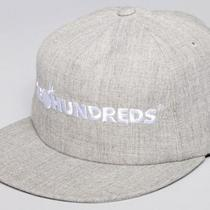 The Hundreds Bar Logo Snapback Cap Hat - Heather Grey / White Photo