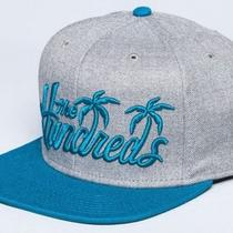 The Hundreds Palms Snapback Cap Hat - Heather Grey / Blue Photo