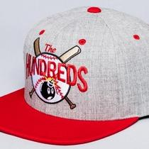 The Hundreds Rally Snapback Cap Hat - Heather Grey / Red Photo