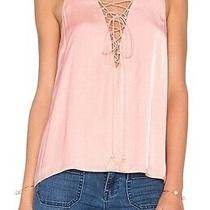 The Jetset Diaries Womens Lotus Tank Top Blush Pink Small S Lace-Up 118 300 Photo