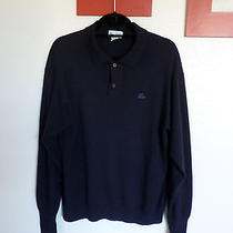 The Lacost Club Men's Navy Blue Wool Acrylic Sweater Size Xl Photo