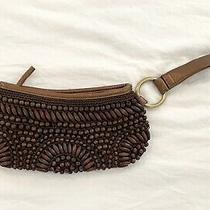 The Limited Beaded Brown Clutch  Photo