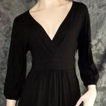 The Limited Black Knit Top Medium Wrap Chest 3/4 Sleeves Photo