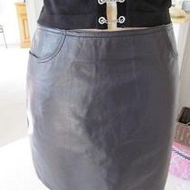 The Limited Black Leather Mini Skirt Size 10 Photo