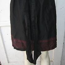 The Limited Black Red Sash Tie Full Skirt 100% Cotton Size Small  Photo