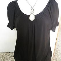 The Limited Blouson Trendy Career Black Blouse Top Black Xs Photo