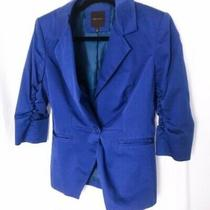 The Limited Blue Blazer Button Closure Jacket Photo