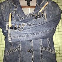 The Limited Blue Jean Denim Jacket Size Small Photo