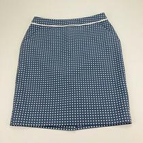 The Limited Blue White Polka Dot Waist Fully Lined Career Pencil Skirt Size 4 Photo
