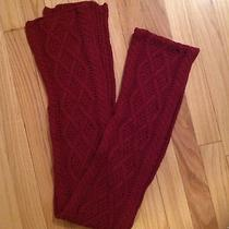 The Limited Burgundy Cable Knit Crochet Scarf Photo