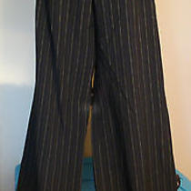 The Limited Cassidy Fit Black Green Pin Striped Trousers Pants Dress Slacks 10 Photo