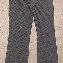 The Limited Cassidy Fit Black White Check Career Work Dress Stretch Pants 8 Photo
