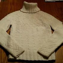 The Limited  Cream Turtleneck Embellishment Sweater Wool- Size S - My Closet  Photo