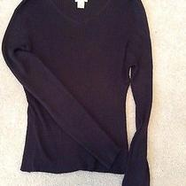 The Limited Dark Brown Long Sleeve Silk Sweater Size Xl Nwot Photo