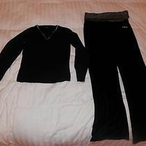 The Limited & Fila Sport Size Medium Womens Velvet Pants & Light Sweater  1829 Photo