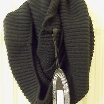 The Limited Forenza Women's 100% Acrylic Infinity Scarf Black Solid Nwt Photo
