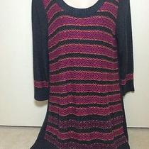 The Limited Gray Scoop Neck Long Sleeve Wool Alpaca Blend Sweater Dress Sz L Photo
