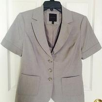 The Limited Gray Textured Short Sleeve Formal Jacket Size S Euc Photo
