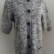 The Limited Gray Tweed Acrylic Wool Blend Cardigan Sweater Dress L Photo